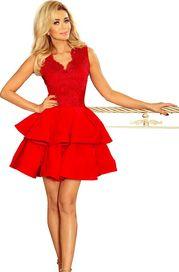 6a37e206ffda dámské šaty Numoco Charlotte 200-4 červené