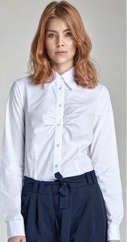 87aa26267cbd Dámská košile s dlouhým rukávem. Košile má jemné řasení na hrudi.
