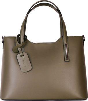 50dc25410 ITALSKÉ Trendové kožené kabelky zelené velké…
