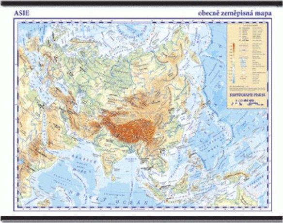 Asie Skolni Nastenna Obecne Zemepisna Mapa 1 13 Mil 136 X 96 Cm