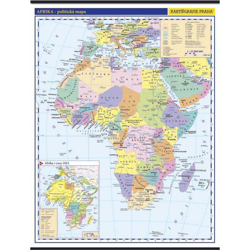 Afrika Skolni Nastenna Politicka Nastenna Mapa 1 10 Mil 96 X 126
