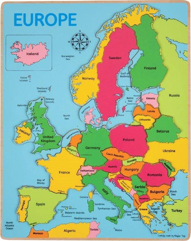 Bigjigs Puzzle Mapa Evropy Od 215 Kc Zbozi Cz