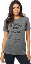 3d65116dc4 dámské tričko FOX Darkside Ss Bf Crew Rl Slve Heather Graphite