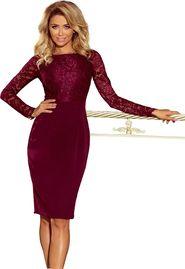 e44641ec76e4 dámské šaty Numoco 216-3 vínové