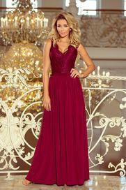 dámské šaty Numoco 211-2 vínové XL f0ed924340