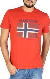 c7727cd10be1 pánské tričko Napapijri N0YHX5 oranžové