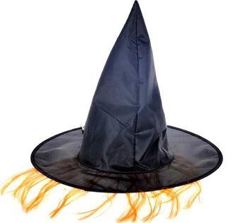 5ec05e840b1 MFP klobouk čarodějnický M02 černý s vlasy od 49 Kč • Zboží.cz