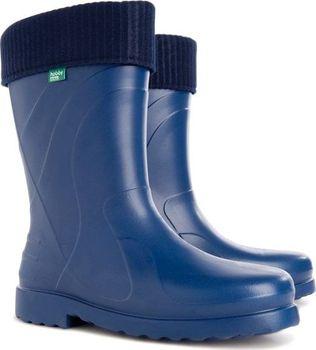 2b8aa044b0 Dámské zateplené holinky Demar Luna jsou ideální pro deštivé jarní a  podzimní počasí. Barva bot je modrá.