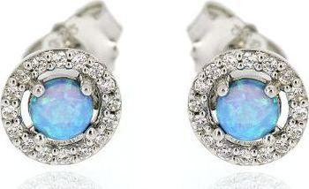 4db60656e Náušnice se šperkem ze stříbra a s kamenem z opálu | Zboží.cz