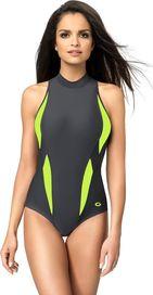 c7a34214a dámské plavky Gwinner Aqua Sport II šedé/zelené