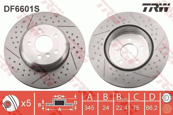 TRW DF4364 Brake Disc