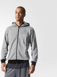 pánská mikina Adidas Prime hoodie šedá f8172f9098