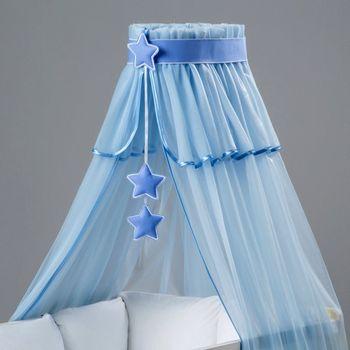 2f39a4ff7a33 Baby Nellys Nebesa modrý šifon modré hvězdičky od 399 Kč