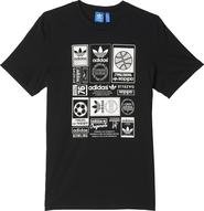 pánské tričko adidas Vintage Trefoil Tee černé b0a9e0a3e95