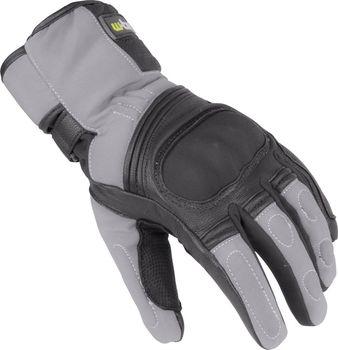 W-tec NF-4004 šedé černé. Zimní kožené textilní moto rukavice ... 094bcaa982