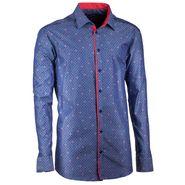 fddbc91a96a pánská košile Assante 20796 prodloužená rovná modro červená