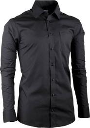 pánská košile Aramgad 30180 Černá slim fit 61b2a3b756