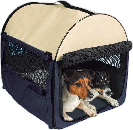 708b4636d23 přepravka pro psa Trixie T-Camp MobileKennel 1 modro-béžová 32 x 32 x