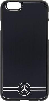 Mercedes-Benz Alu MEHCP6BRUALBK pro iPhone 6 6S. Ochranný zadní kryt ... 1963233c24c
