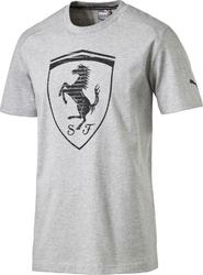 88a237d8f47 pánské tričko PUMA Ferrari Big Shield Tee light šedé