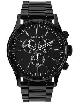 Nixon A386-001. Pánské hodinky Nixon A386-001 Sentry Chrono All Black ... 3ff7a68ce8
