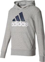 83973abc223 pánská mikina Adidas Essentials Linear Pullover Hoodie Medium Grey Heather