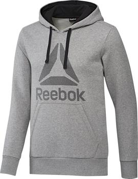 Reebok Workout Ready Big Logo Cotton Poly Hoodie šedá. Pánská mikina ... 29dd3992c0