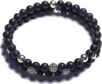 Lavaliere Pánské korálkové náramky - černý… e79d9b7fe95