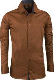 dd14014cf pánská košile Assante 20210 bronzová