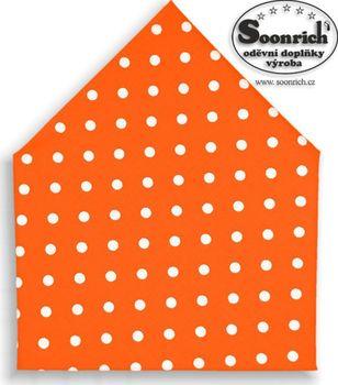 bd76a77882c bavlněný šátek puntík na oranžové