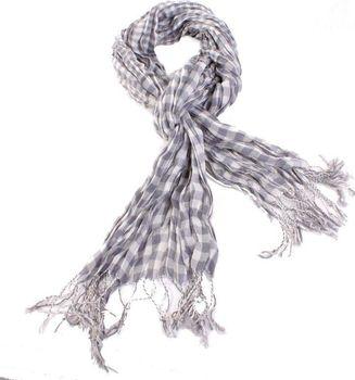 104feea0463 Šedý šátek Lott s třásněmi D7