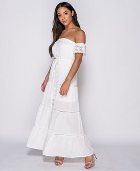 d93f6080f3e Bílé dámské šaty s krátkým rukávem • Zboží.cz