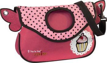 d6303c3dd1 Dětská taška přes rameno pro volný čas. Velká hlavní kapsa je uzavíratelná  na zip a dostatečně prostorná pro všechny hračky a svačinu.