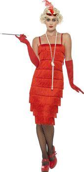 86dfbe087360 Červené šaty kostým 30. léta Dámské…