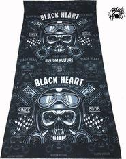 c7d76788c4b nákrčník Black Heart Piston Skull nákrčník
