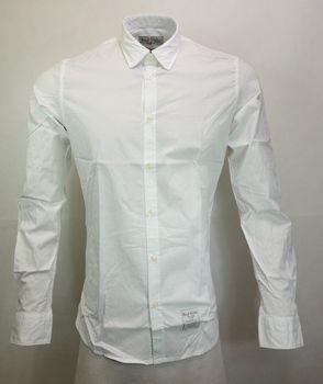 Fred Mello Bianco Pánská košile US S… b36db10db2