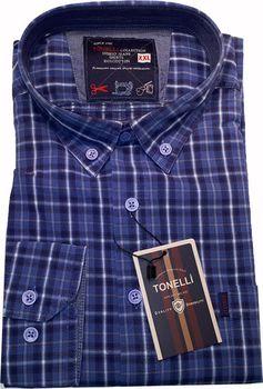 3777bbd61af Tonelli 110935 modrá. Elegantní pánská košile ...