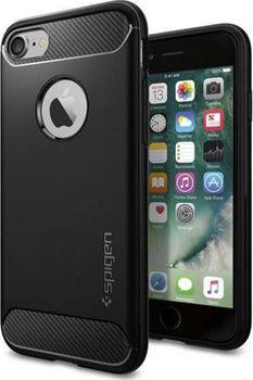 Spigen Rugged Armor pro Apple iPhone 7 černé od 392 Kč • Zboží.cz 1ca4cc7b162