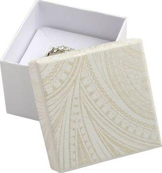 Smetanová dárková krabička na prsten 3f80ee157a4