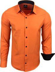 7d1b2792470 pánská košile Rusty Naeal R-44 oranžová