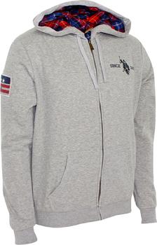 U.S. Polo ASSN. mikina s kapucí grey melange od 900 Kč • Zboží.cz 431ecb8b9f