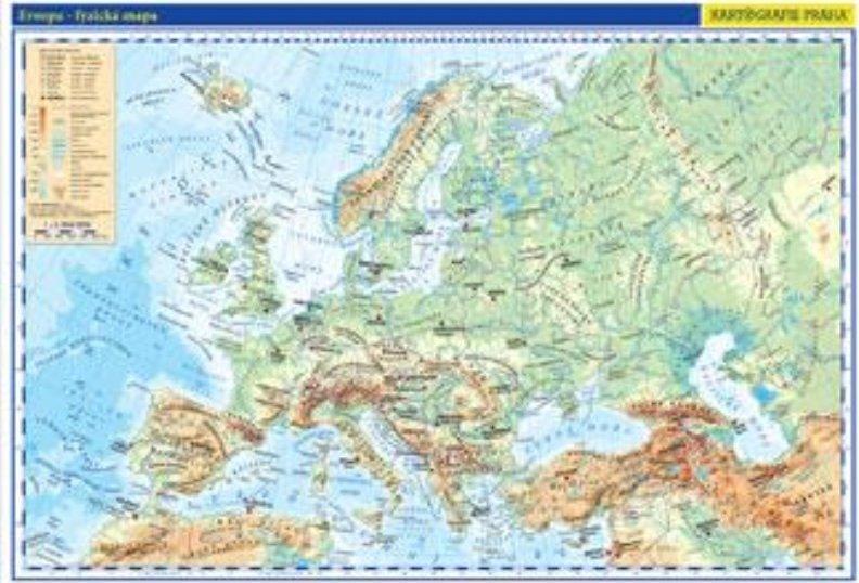 Evropa Skolni Fyzicka Nastenna Mapa 136 X 96 Cm 1 5 Mil Od 719 Kc