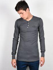Šedá stříbrná pánská trička s dlouhým rukávem a Ride • Zboží.cz 5ee39be0aa