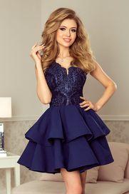 0dbd98fde430 Tmavě modré dámské šaty bez rukávů s velikostí velikostí XL