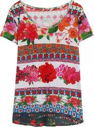 d4ebc8332 dámské tričko Desigual TS Logan Cemento