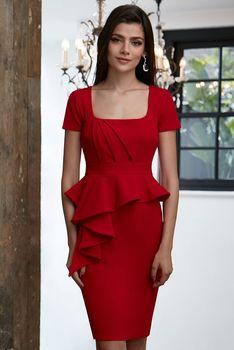 Červené dámské šaty s krátkým rukávem s velikostí S • Zboží.cz 0a9b55cb7d