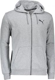38a7ba26c79 pánská mikina PUMA ESS FZ Hoody TR 85176723 Medium Gray Heather
