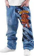 Dangerous DNGRS Baggy Tiger in Blue 826a2729f4