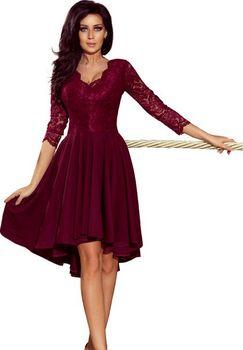 04870fe6db62 Numoco 210-1 bordó. Originální dámské šaty ...