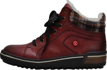Rieker Z6423-35 červené. Dámské zateplené kotníkové boty ... 3b22fd36743